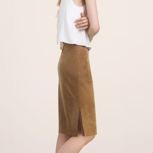 Wilfred Free Vegan Suede Skirt